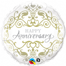 Happy Anniversary Scroll Foil Helium Balloon